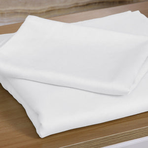 4 Pcs Natural Bamboo Cotton Bed Sheet Set in Size King White