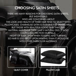 Silk Satin Quilt Duvet Cover Set in Single Size in Ivory Colour
