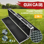 Hard Aluminium Double Sided Hunting Gun Cases Safes Bags Rifle Shot Carry Boxes
