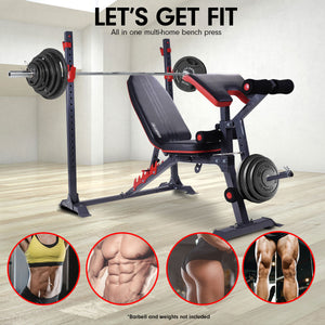 Powertrain Home Gym Bench Press Incline Decline Preachers Curl