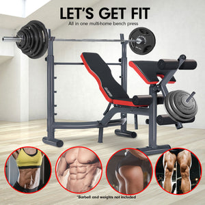 Powertrain Home Gym Bench Press Incline Decline Preachers Curl Exercise