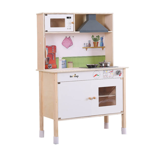 Kids Wooden Kitchen Pretend Play Set Cooking Toys Toddlers Cookware Gift
