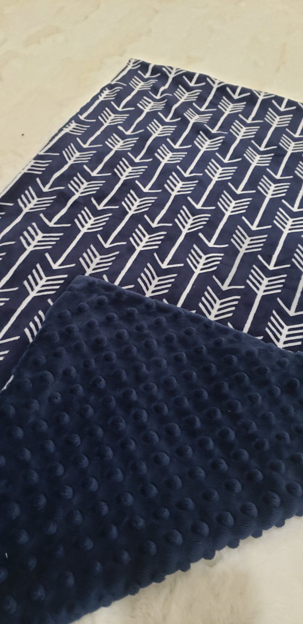 Navy arrow blanket