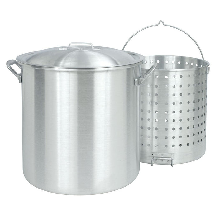 80 Qt Aluminum Crawfish Stock Pot