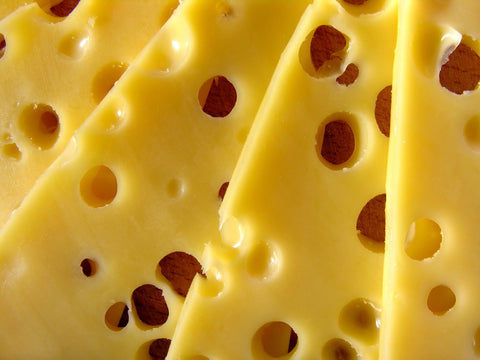 Close-up of cheese, one healthy source of vitamin D.