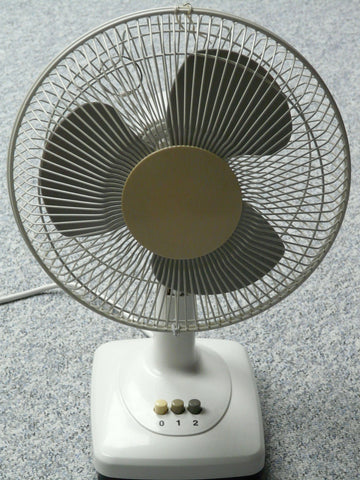 Fan used to prevent irritants from settling within the home.