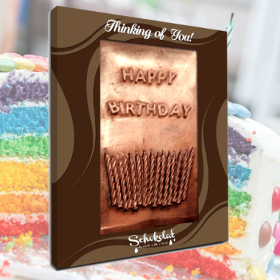 Chocolate Greeting Card - Happy Birthday