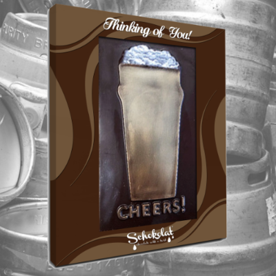 Chocolate Greeting Card - Cheers