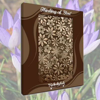 Chocolate Greeting Card - Flowers
