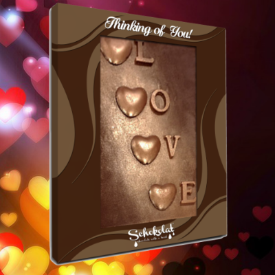 Chocolate Greeting Card - Love