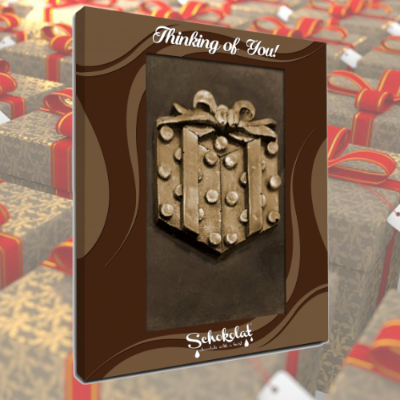 Chocolate Greeting Card - Present