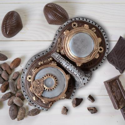 Chocolate Steampunk Goggles