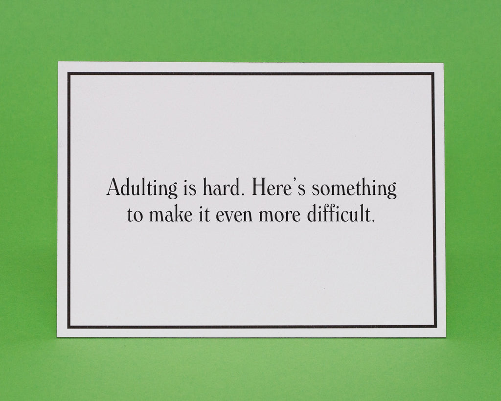 Adulting Is Hard Words Of Encouragement Greeting Card Give A Hand