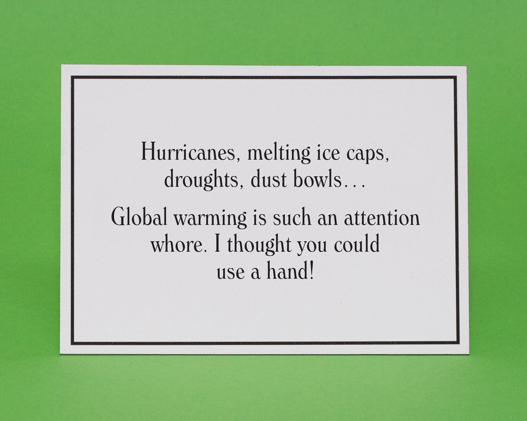 Global Warming Thinking Of You Greeting Card Give A Hand