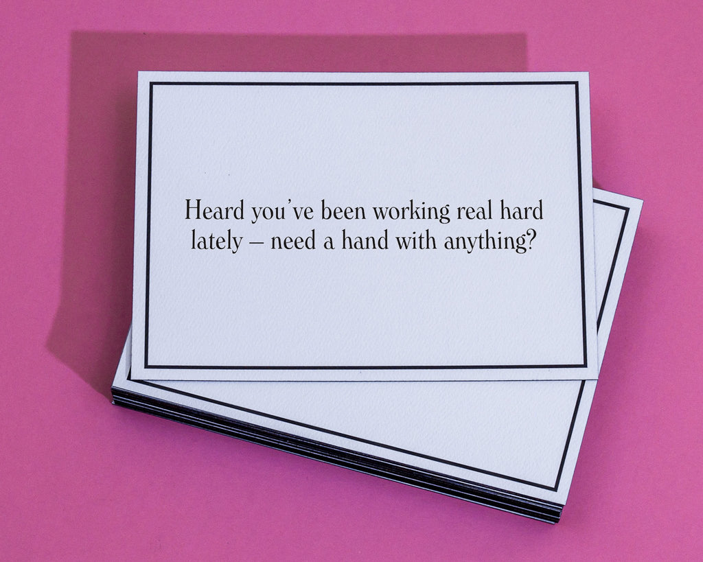 Hard Work Words Of Encouragement Greeting Card Give A Hand