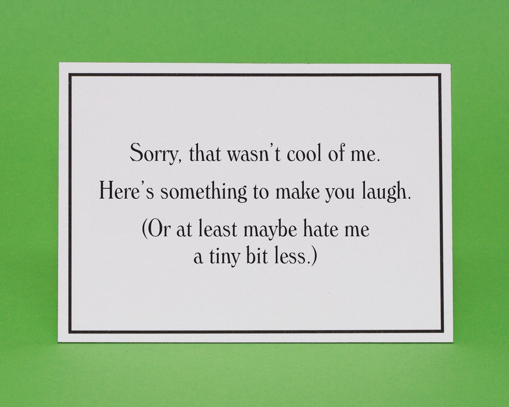 Hate me a tiny bit less apology greeting card give a hand hate me a tiny bit less apology greeting card 3 m4hsunfo