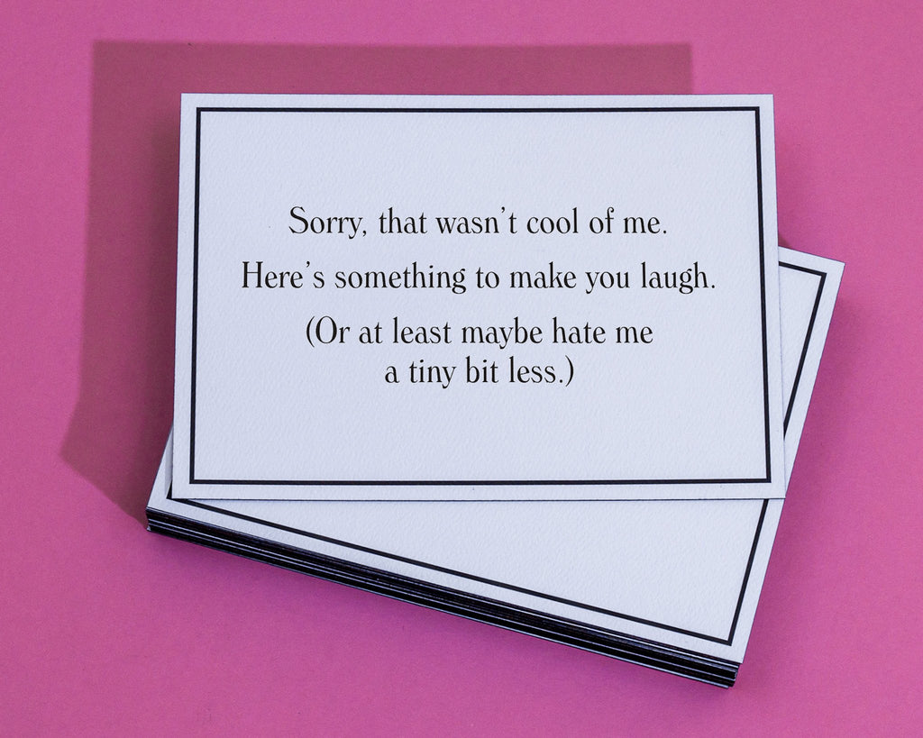 Hate me a tiny bit less apology greeting card give a hand hate me a tiny bit less apology greeting card 4 m4hsunfo