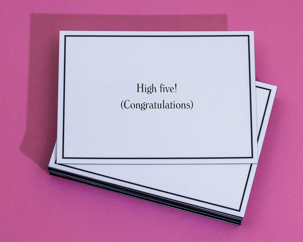High five congratulations greeting card give a hand high five congratulations greeting card 4 m4hsunfo
