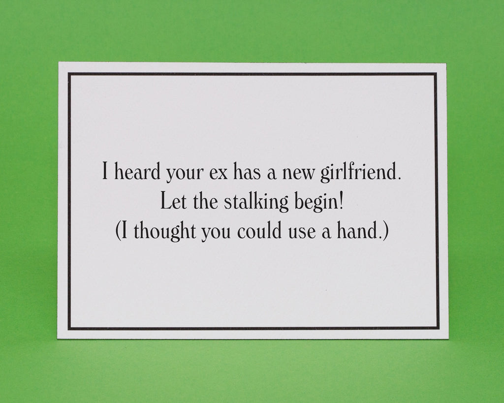Exs new girlfriend love and romance greeting card give a hand new girlfriend love and romance greeting card 3 m4hsunfo