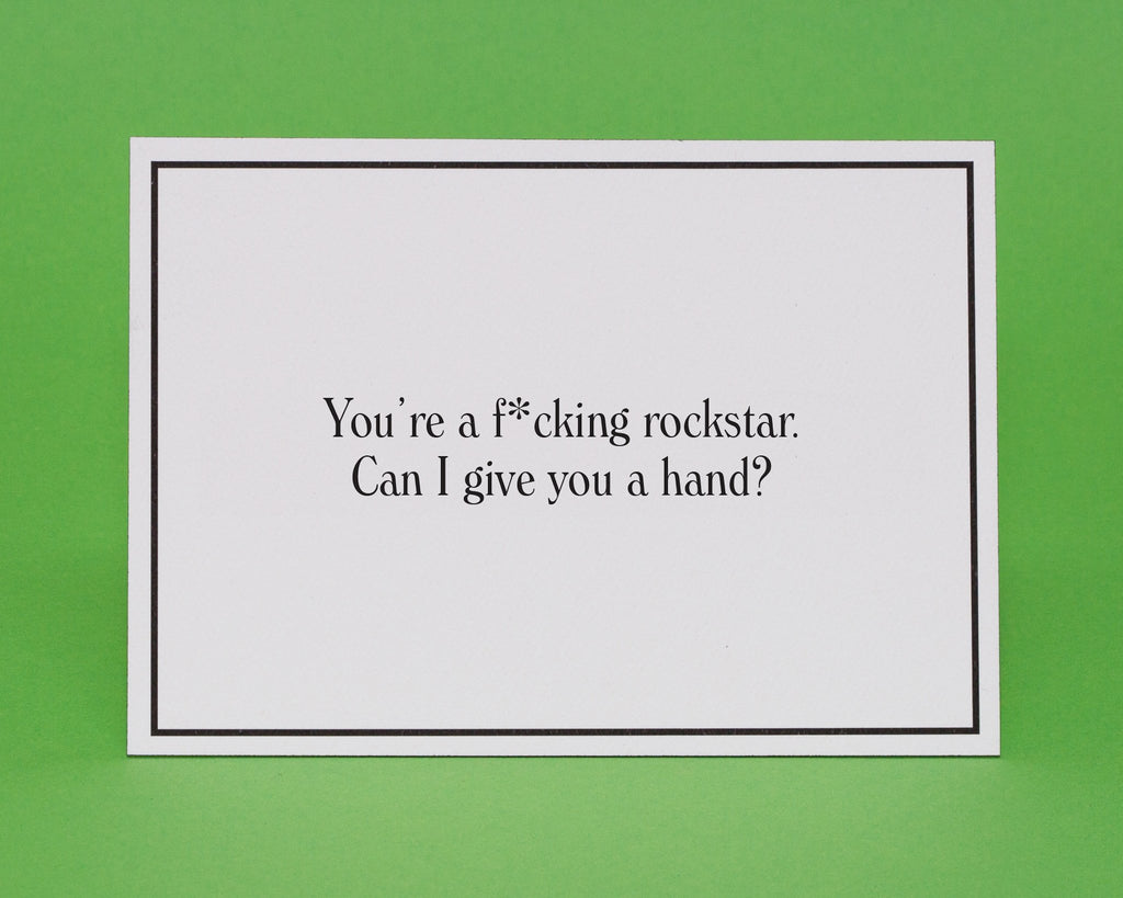 Rockstar Thinking Of You Greeting Card Give A Hand