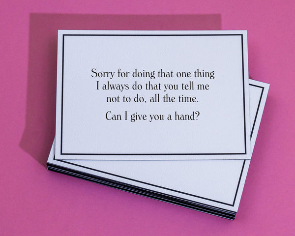 Giveahand apology greeting cards always free shipping give sorry about that one thing sorry greeting card 4 m4hsunfo