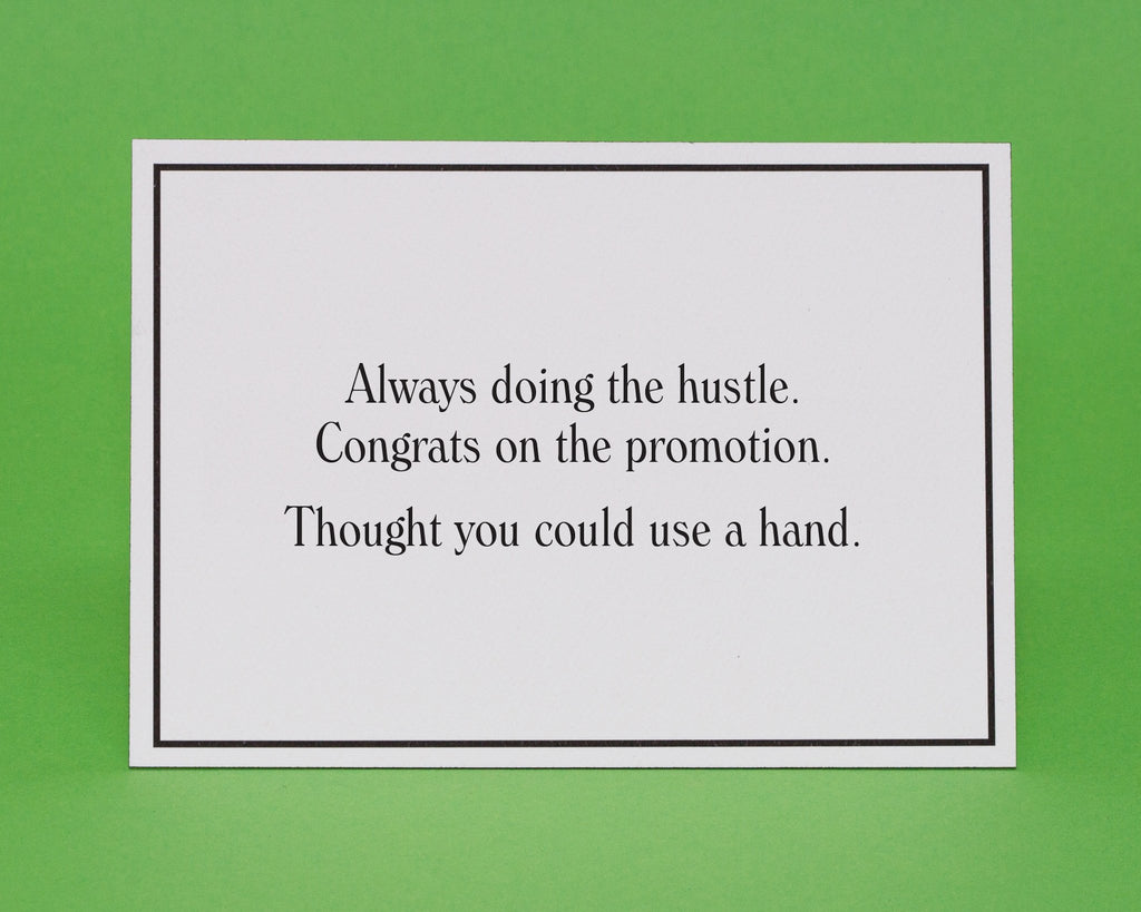 The promotion congratulations greeting card give a hand the promotion congratulations greeting card 1 the promotion congratulations greeting card 3 m4hsunfo