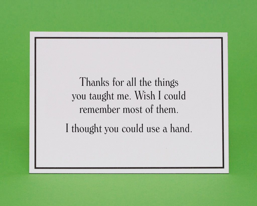 Wish I Could Remember Family Greeting Card Give A Hand