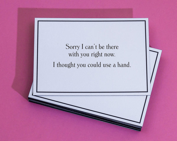 Wish i was there apology greeting card give a hand m4hsunfo