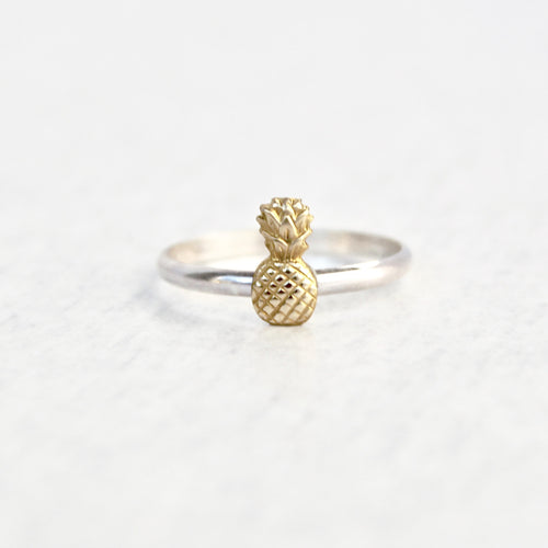 Pineapple Ring - Contrasting Metal