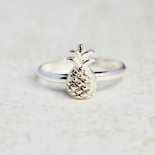 Pineapple Ring - Sterling Silver