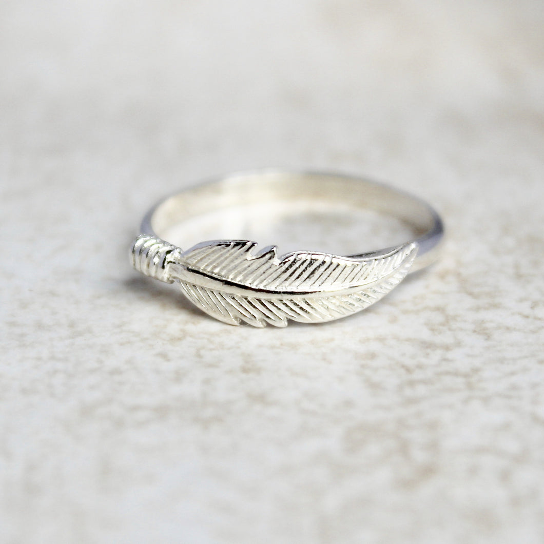 Feather Ring - Sterling Silver