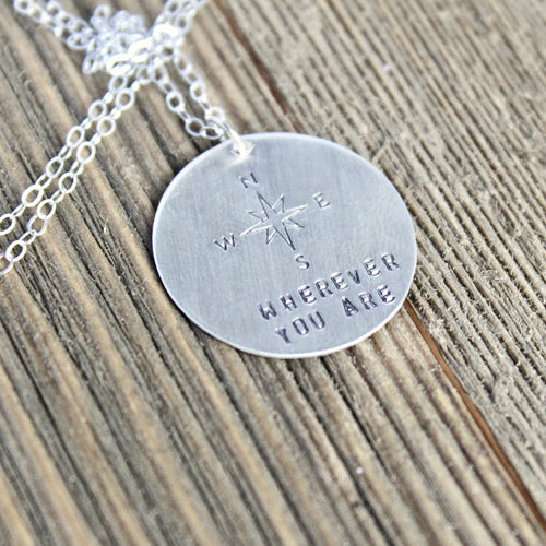 Wherever You Are Compass Necklace