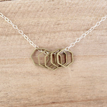 Brass Hexagons Necklace