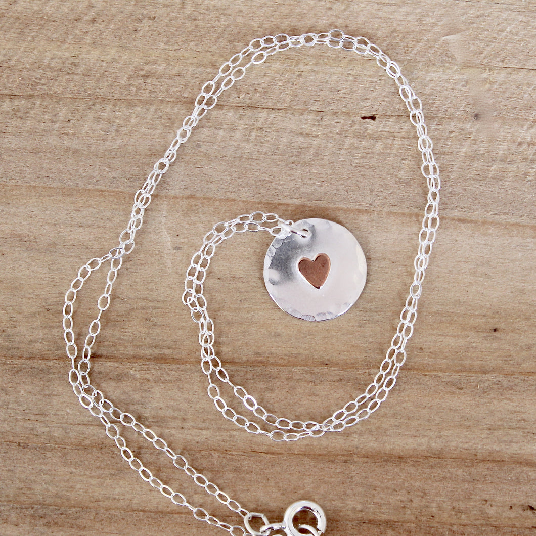 Circle Heart Necklace