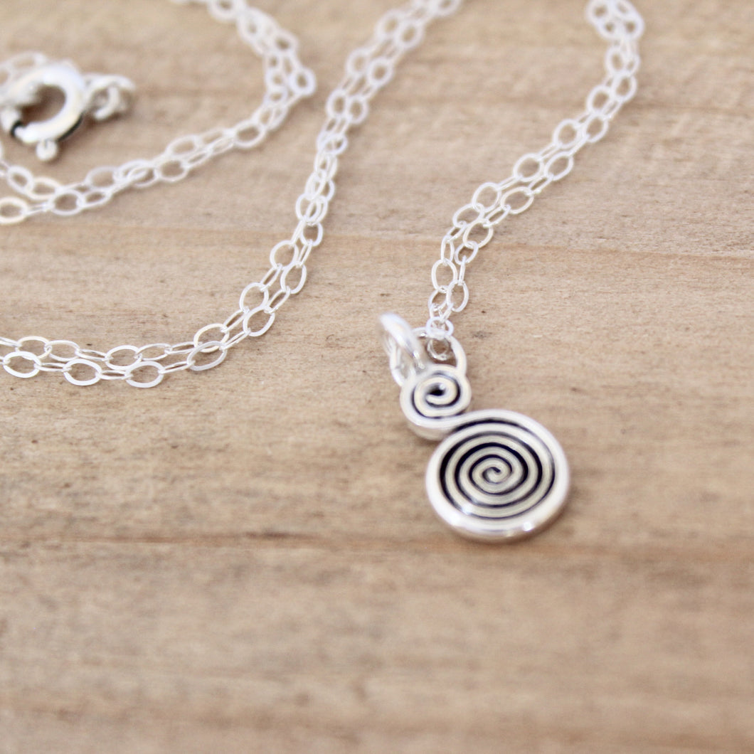 Swirl Charm Necklace