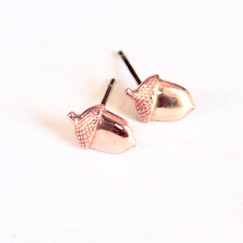Acorn Earrings - Brass