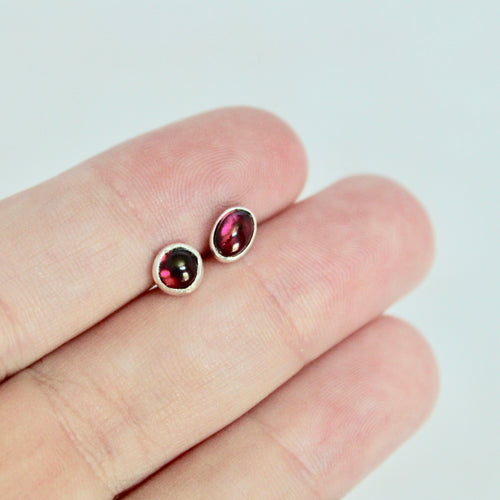 Garnet Mismatch Earrings