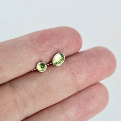 Peridot Mismatch Earrings