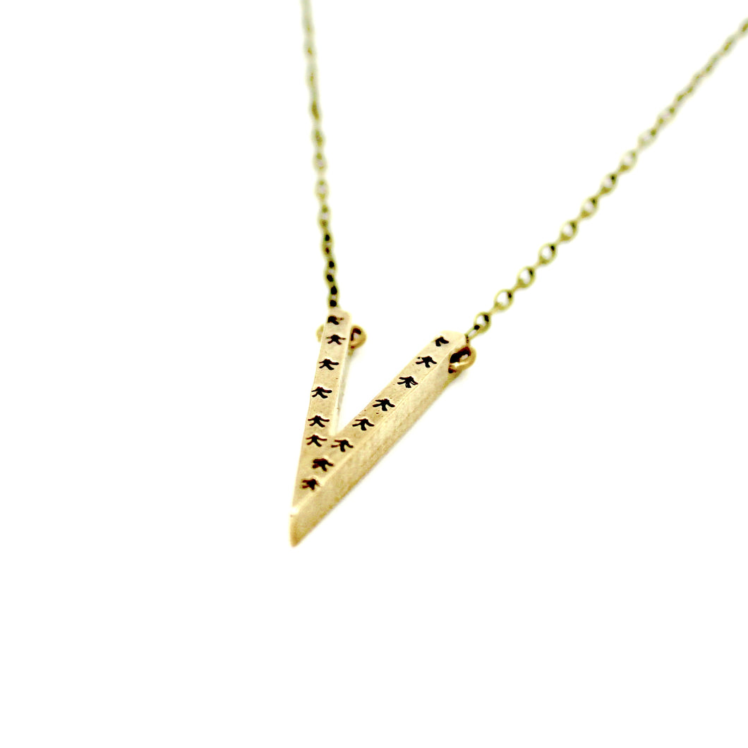Arrows V Necklace