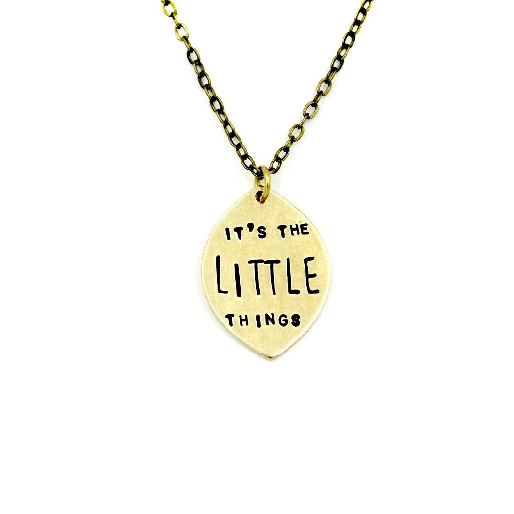 It's The Little Things Necklace