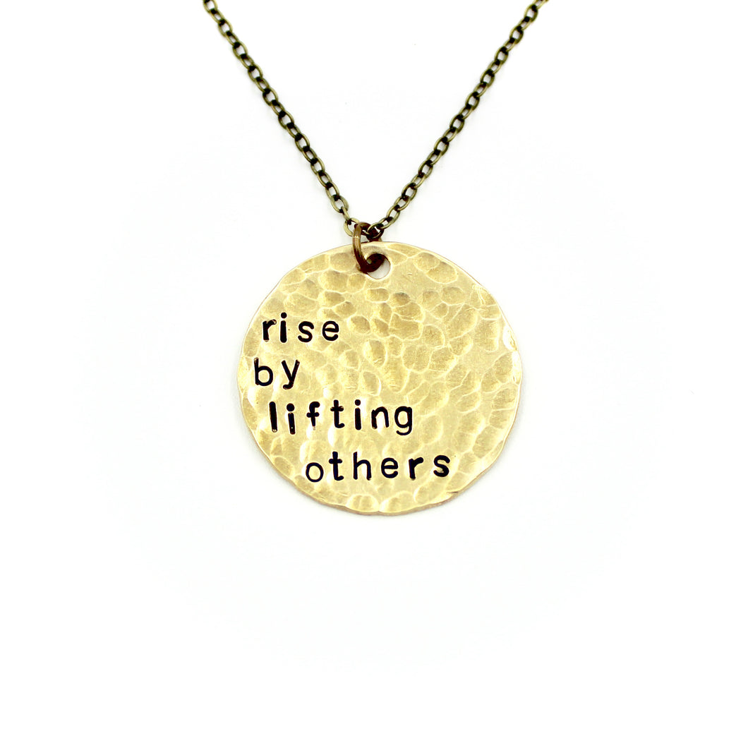 Rise By Lifting Others Necklace