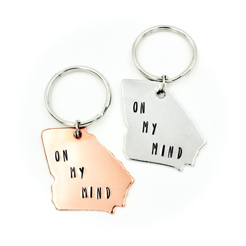 Georgia Keychain - On My Mind