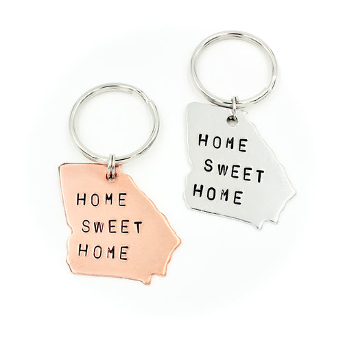Georgia Keychain - HOME SWEET HOME