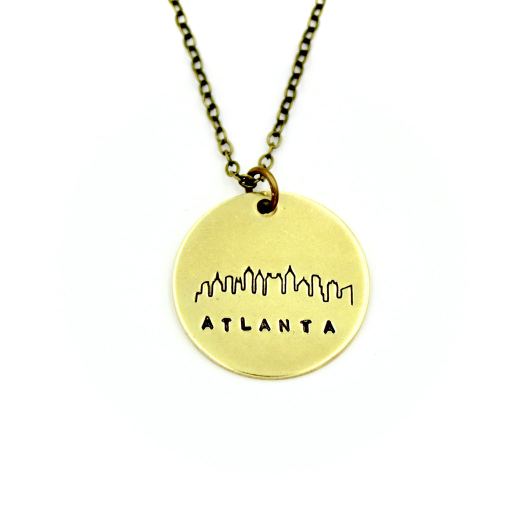 Atlanta Skyline Round Necklace