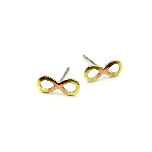 Infinity Earrings - Brass