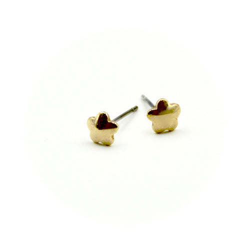 Flower Earrings - Brass