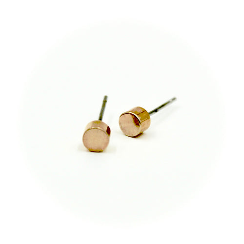 Cylinder Earrings - Brass
