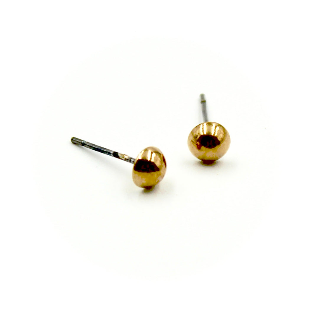 Cabochon Earrings - Brass