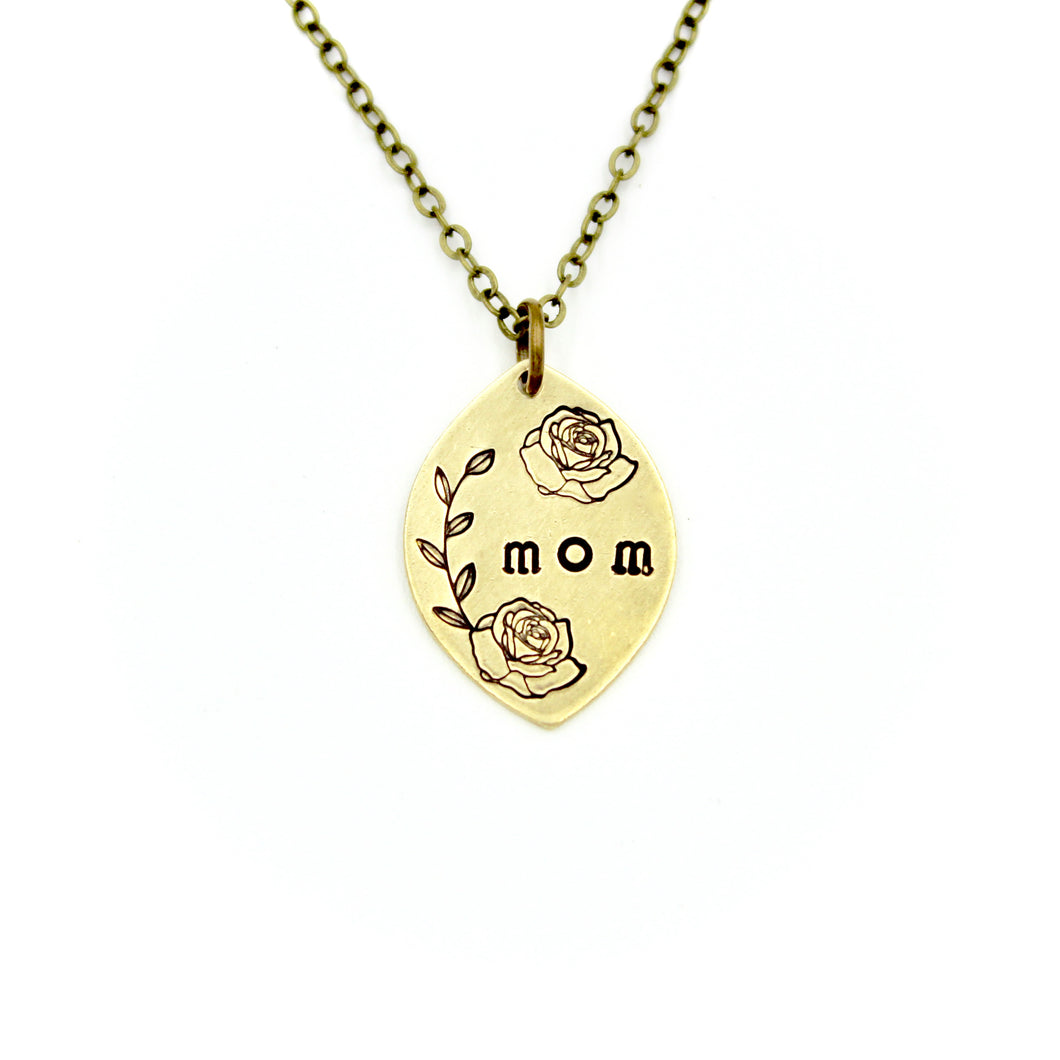 Mom & Roses Necklace