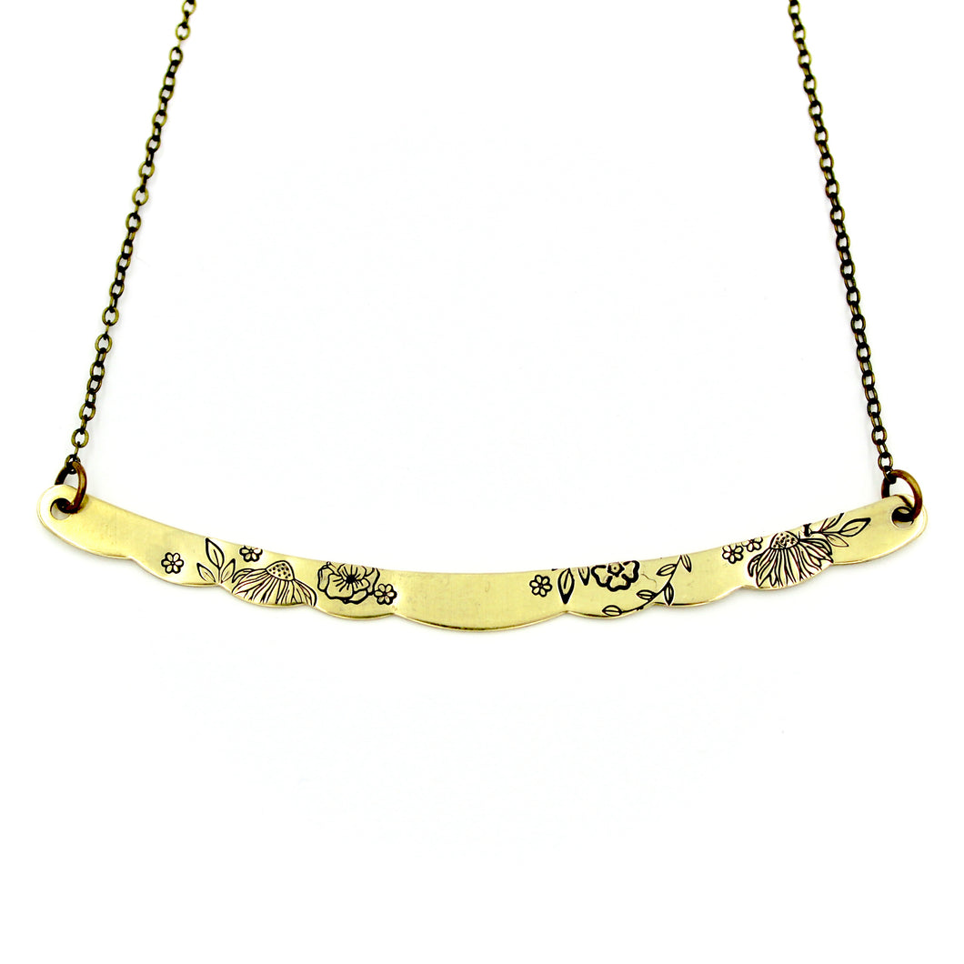 Long Floral Necklace
